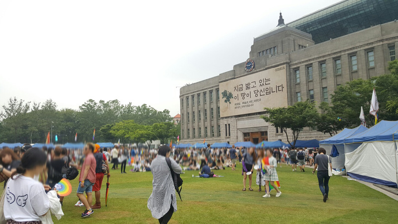 。レKorea Queer Festival 2016(seoul city hall hiroba)