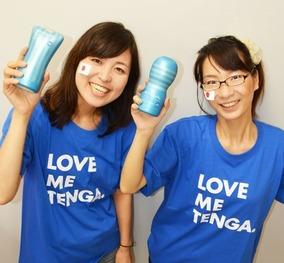 侍ブルーLOVE-ME-TENGA-Tシャツ