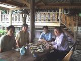 兄弟と昼食
