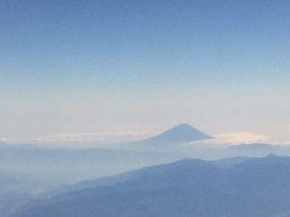 機中からの富士山 003