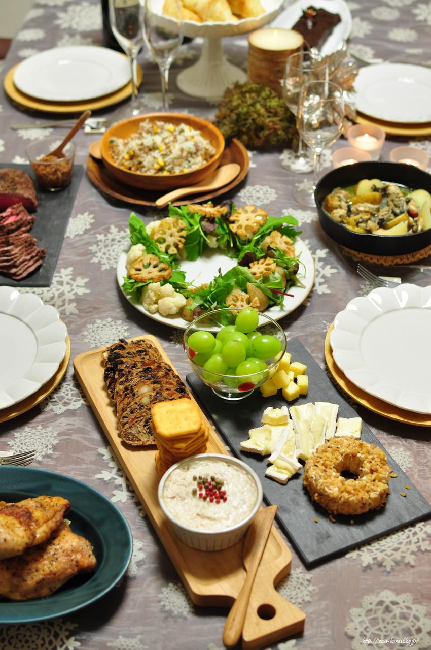家族で過ごすクリスマスの食卓2017  井上かなえオフィシャル
