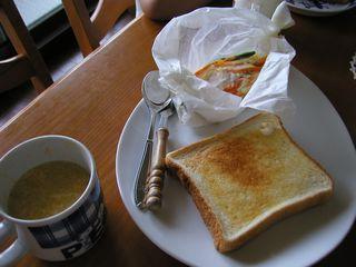 兄ちゃん作朝ごはん1