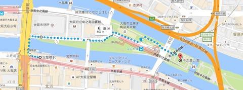 中之島公園地図