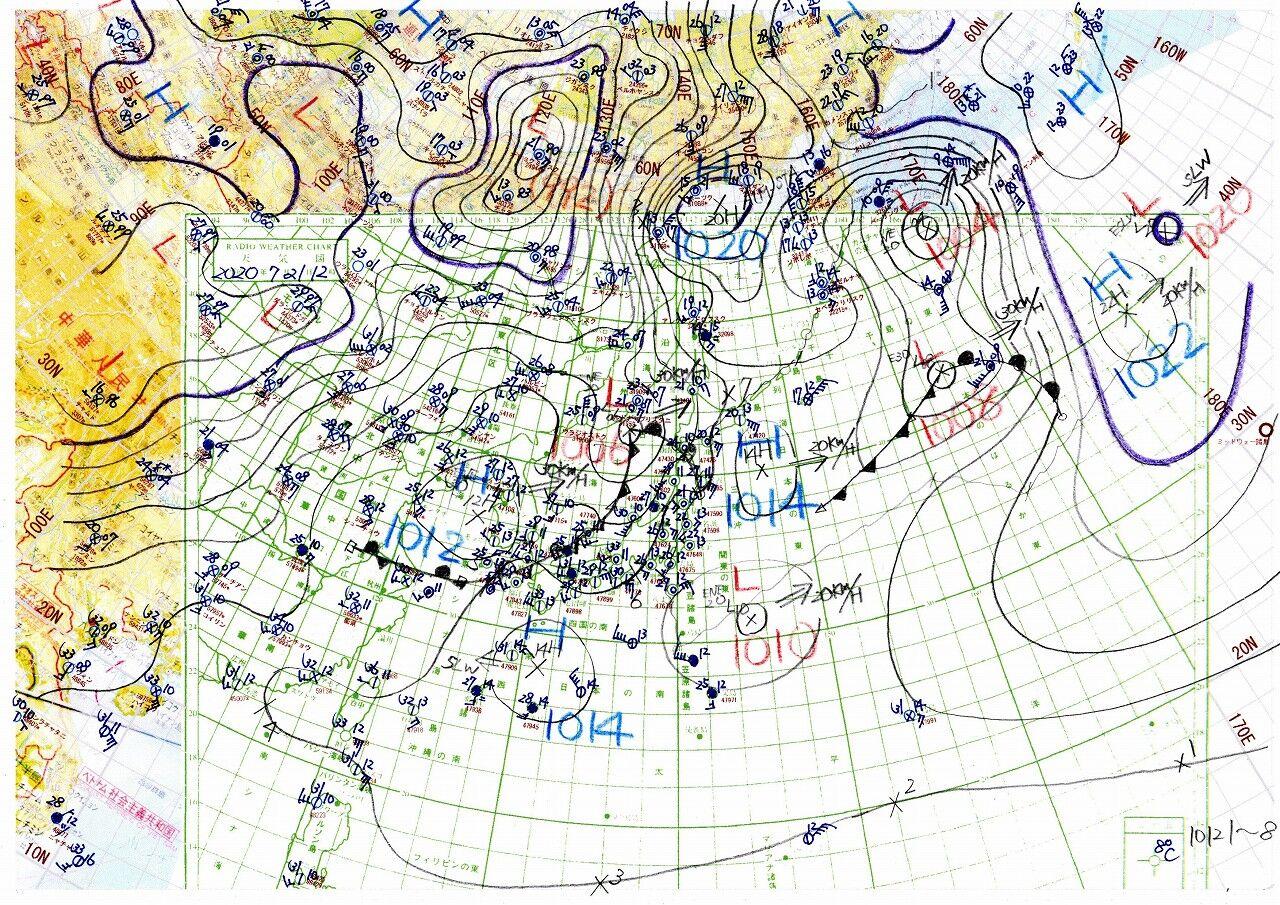 名瀬のすぐ東南東に切り離された高気圧 : 天気図日記