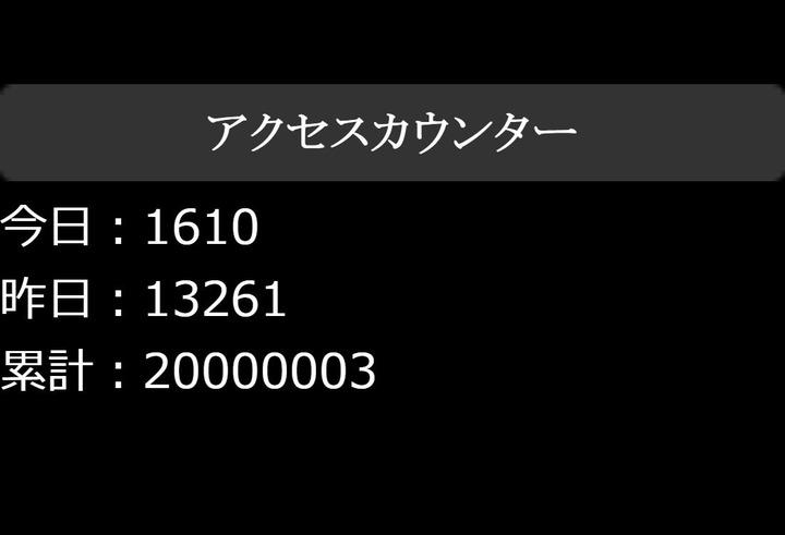 カウンタ20000003
