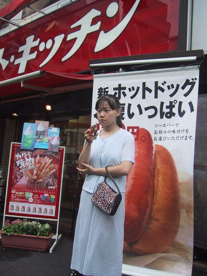 ハンバーガーショップでホットドッグ・・・(東横線・自由が丘駅前)