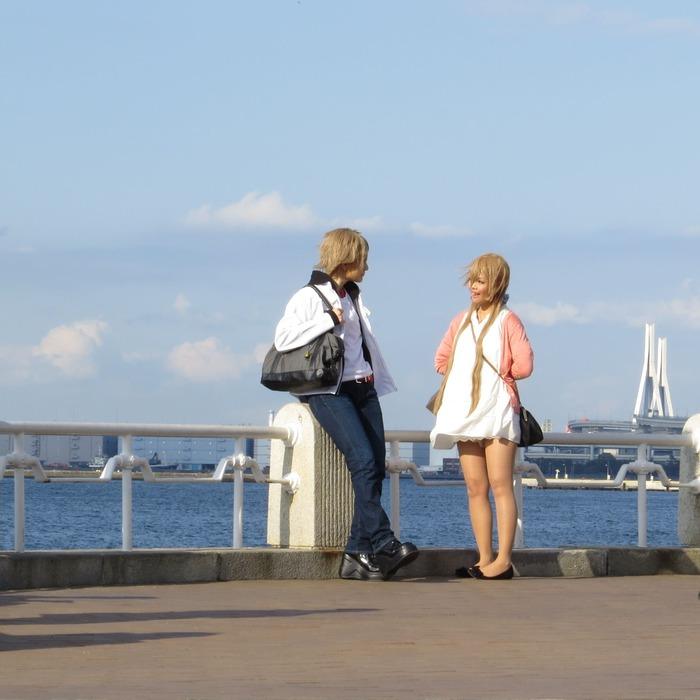 ここは横浜なのか、外国なのか、アニメの仮想世界なのか・・・