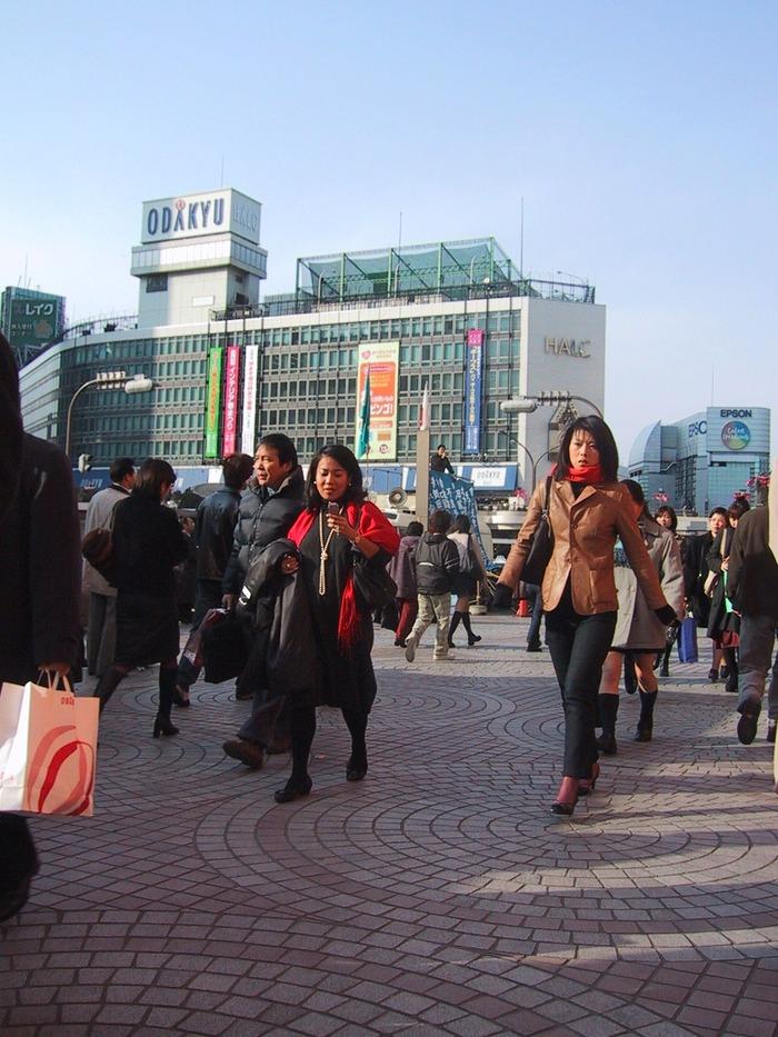 2001年当時の新宿駅西口