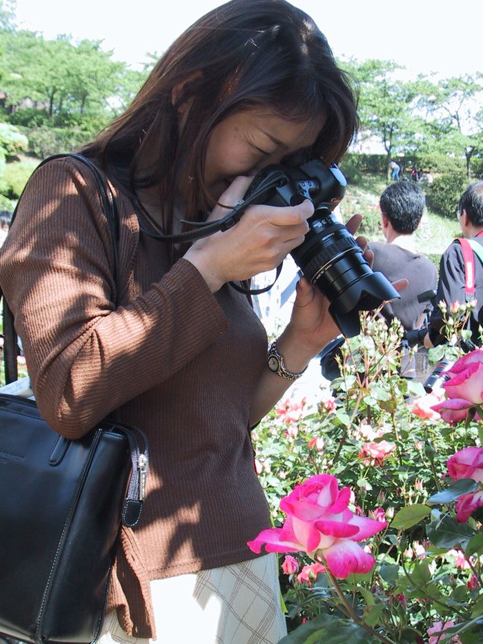 花も女性も両方美しい(向ヶ丘遊園)