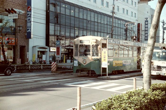 1986年当時の富山駅前