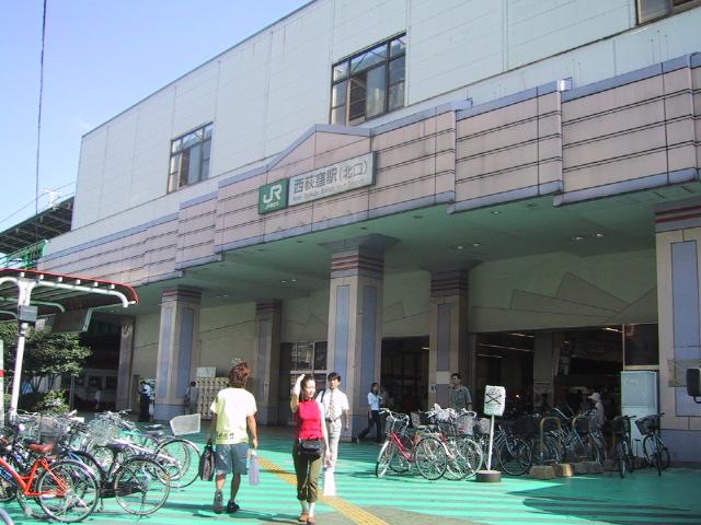 2001年当時のJR中央線・西荻窪駅前