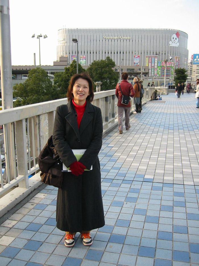 ターミナルデッキで・・・(大阪・梅田)