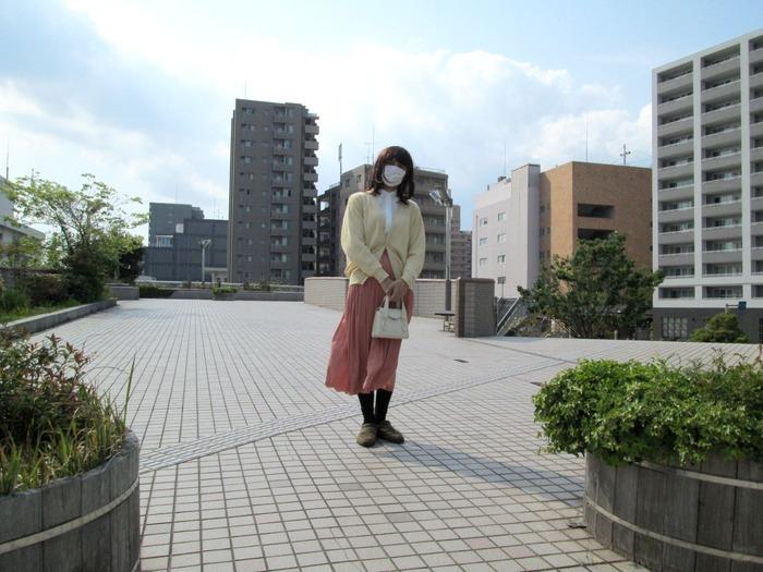 新型コロナウイルスで、街に誰もいないわ