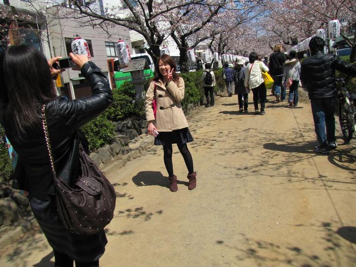 桜が咲いた・・・はい、チーズ!