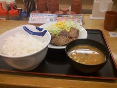 角切りステーキ定食