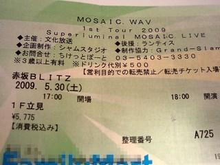 20090531 00 MOSAIC.WAV ライブ