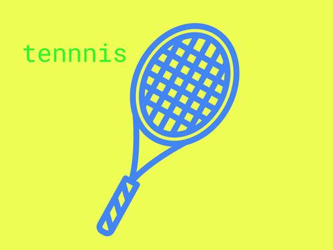 ダウンロードしたテニスラケットの画像