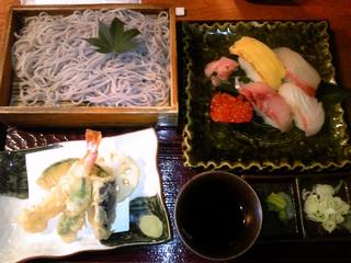 寿司と天ざる