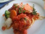 メイン:鶏のトマト煮込み