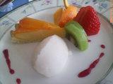 デザート:柿のタルト・アイス