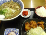A定食(牛スジラーメン)