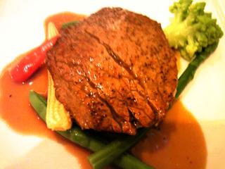 鳥取牛フィレ肉のステーキ
