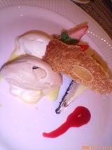 紅茶とバニラのアイスとチーズケーキ
