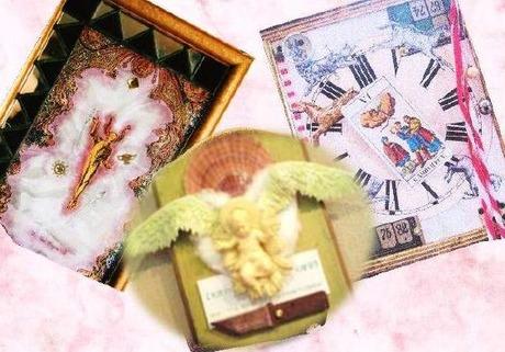コラージュIII人展 三上柳子・羽田野幸代・追夢人DM 2010/11