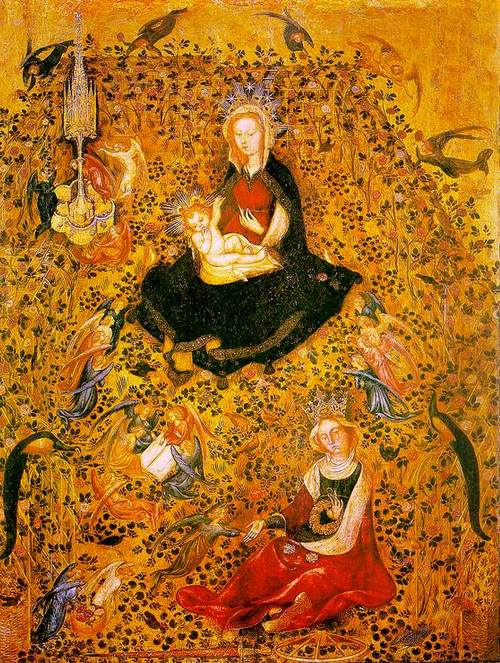Madonna in the Rosary (c.1410) Stefano Da Zevio(c.1375-1438)