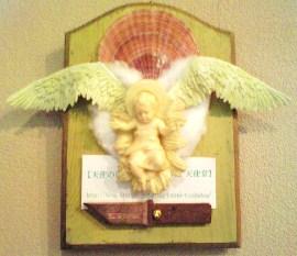 道しるべ ⇒ 天使のいる回廊 天使巡礼天使堂 @伊豆高原