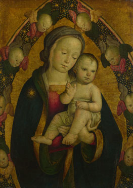 The Virgin and Child in a Mandorla with Cherubim