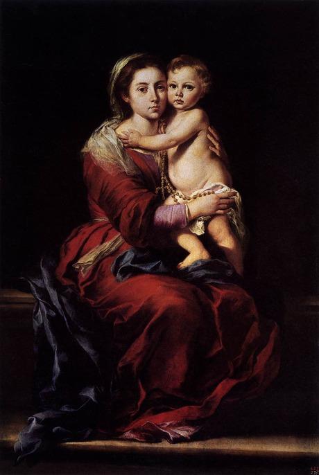 La Virgen del Rosario (1650~1655)