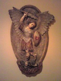木彫のレリーフ 「 大天使ミカエル 」