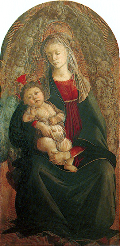 Virgin and Child in a Glory of Cherubim Sandro Botticelli
