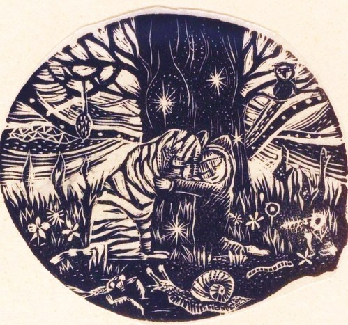 A_HAPPY_NEW_YEAR_2010_Midori_Neko_Wood_Engraving