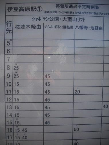 伊豆高原駅 東海バス1番のりば
