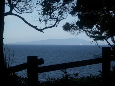 大島 伊豆高原の海岸からの眺望
