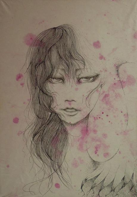 「堕天使」 Noah ペン画