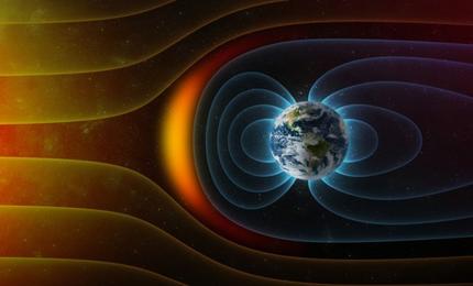 宇宙線から地球を守る地磁気図