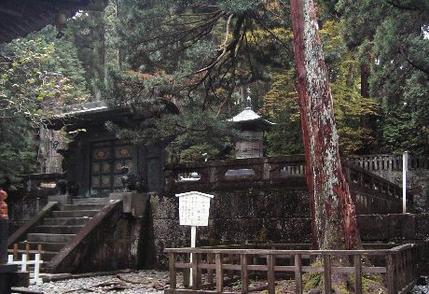 日光東照宮の奥社(徳川家康墓地)