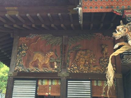 秩父神社南面を守護する子宝・子育ての虎