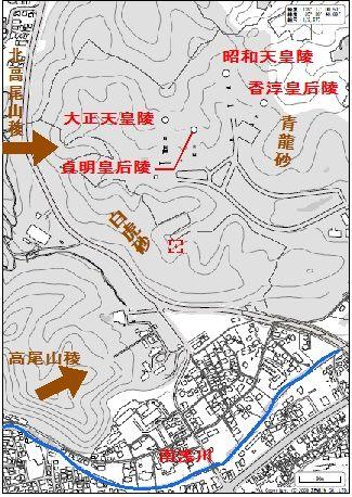 武蔵野稜 巒頭風水図