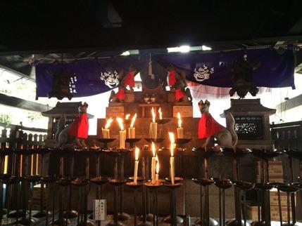 稲荷山登山道途中にある祭壇
