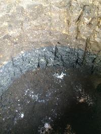 太極部掘削穴の地層