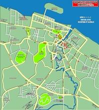 マラッカ市内地図(南を上)