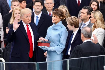 第45代アメリカ大統領就任における宣誓式