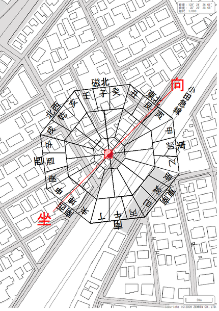 事件発覚のアパート周辺地図