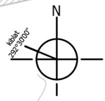 マレーシアにおける設計図面上のN(真北)方位図