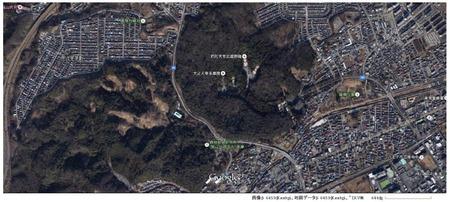 武蔵野稜 Google Earth