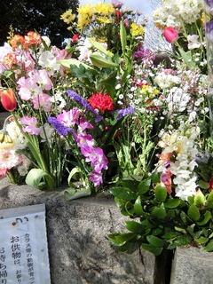 お墓は花いっぱい